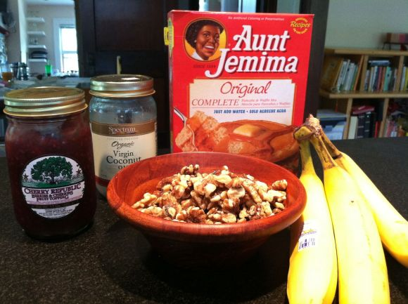 To make delicious pancakes, you have to start with delicious ingredients.