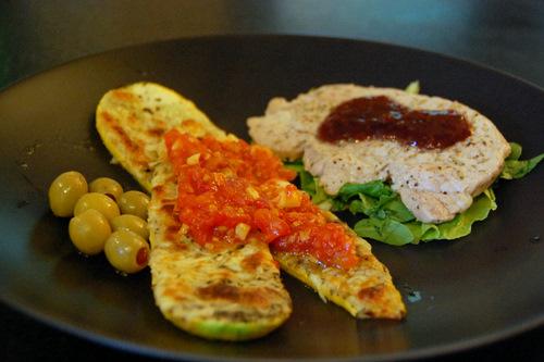Summer Squash and Simple Marinara Sauce