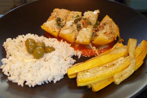 Squash, Parmesean, Garlic & Olive Oil. Divine!